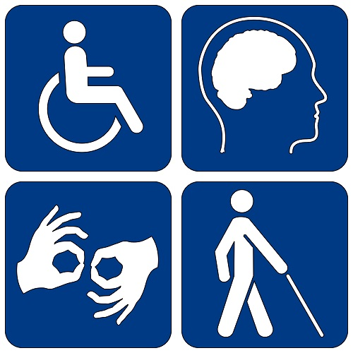 disability logo of different clusters