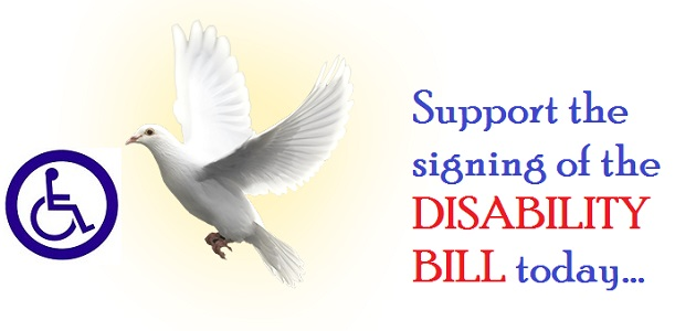 Support the signing into law the Nigerian Disability Bill...today.